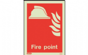 6459D/R - FIRE POINT LOCATION SIGN 200 X 150mm